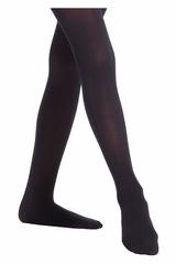 Danskin 727 Girl's Black Faux Backseam Convertible Tights