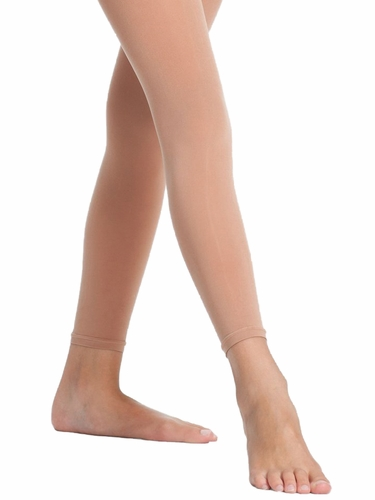 Danskin Girl's 712 Light Toast Microfiber Footless Tight