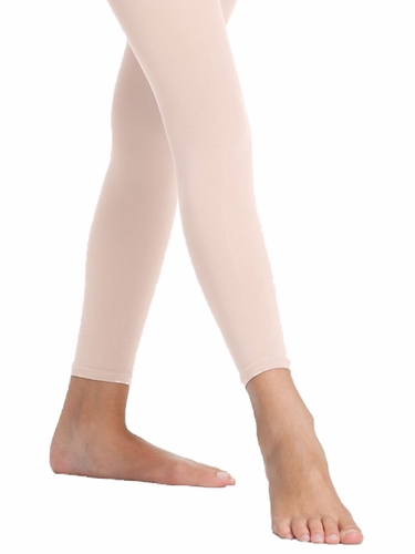 Danskin Girl's 712 Theatrical Pink Microfiber Footless Tight