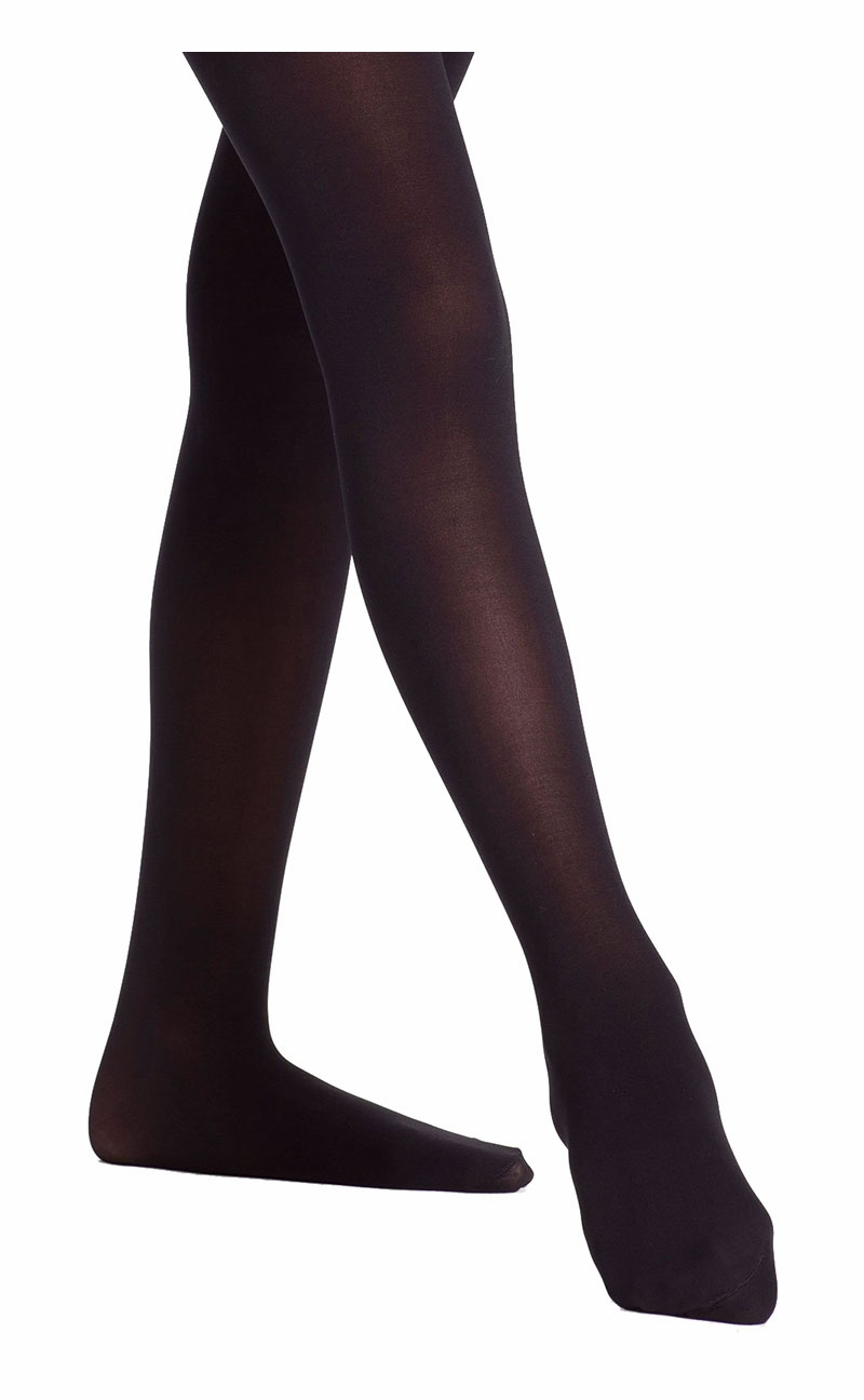 6fe1f10eeb89d ... Danskin 387 Girls Black Ultrasoft Microfiber Footed Tights. Click to  Enlarge