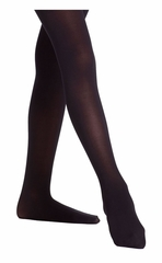 Danskin 387 Girl's Black Ultrasoft Microfiber Footed Tights