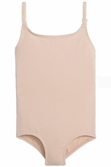 Danskin Girls Dance Basic Nude Camisole Leotard - 1985