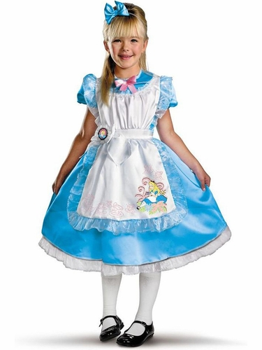 Disguise 11384 Alice Deluxe Kids Costume