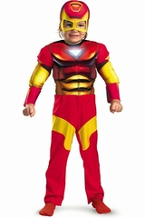 Disguise 11765 Iron Man Toddler Muscle Kids Costume