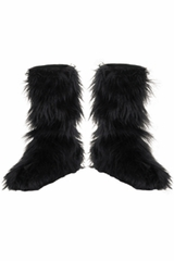 Disguise 14483 Black Furry Boot Covers