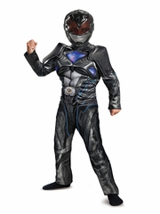 Disguise 19097 Black Ranger Movie Classic Muscle