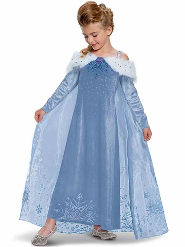 Disguise 65592 Elsa Frozen Adventure Dress Deluxe