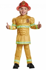Disguise 84019M Fireman Toddler Muscle