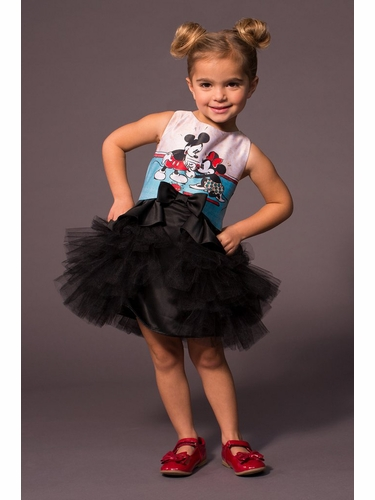 Disney Collection by Tutu Couture Minnie & Mickey Mouse Satin & Tulle Layered Classic Tutu Dress