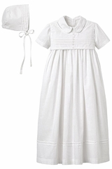 Elegant Baby 92062 Boys' White Cotton Christening Gown & Bonnet