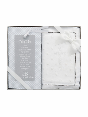 Elegant Baby 97109 Heirloom Baby Bible w/ White Cotton Cover