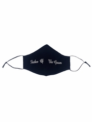 Father of the Groom White Embroidered Face Shaped Mask
