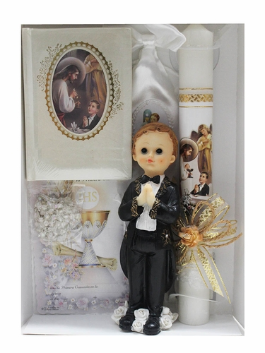 First Holy Communion Boy's Candle Set