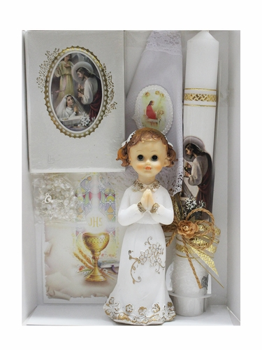 First Holy Communion Girl's Candle Set