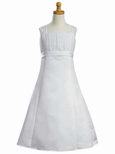 Gathered Organza Bodice w/ A-Line Skirt