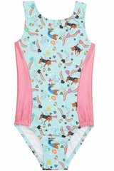 Girl Power Sport Gym Cat Perfect Fit Leotard