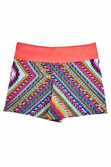 Girl Power Sport Multicolor Athletic Fit Short