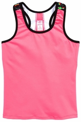 Girl Power Sport Pink Tank Top With Mesh Racer Back