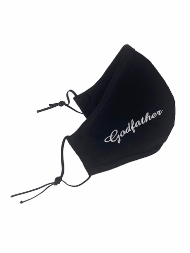 Godfather Embroidered Face Shaped Mask