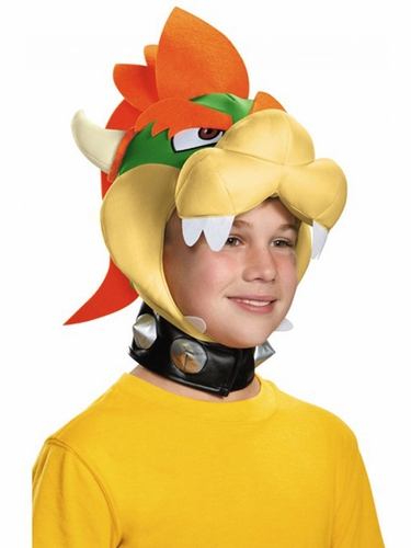 Green Disguise 85225 Child Bowser Headpiece