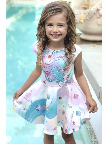 Hannah Banana By SaraSara A32293 Mermaid Fit & Flare Skater Dress