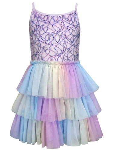 Hannah Banana By SaraSara A32294 Mermaid Sequin Ballerina Tutu Dress