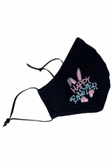 Happy Easter Embroidered 2-Ply Face Shaped Mask