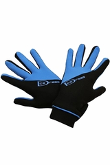 IceDress Black & Blue Two Color Thermal Figure Skating Sport Gloves