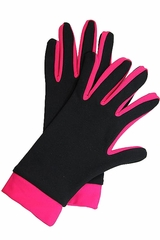 IceDress Black / Raspberry Thermal Figure Skating Gloves