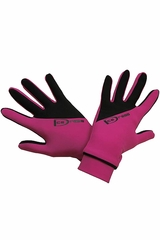 IceDress Black & Fuchsia Two Color Thermal Figure Skating Sport Gloves