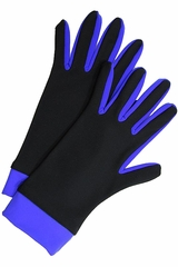 IceDress Black & Blue Thermal Figure Skating Gloves