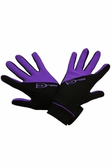 IceDress Black & Purple Two Color Thermal Figure Skating Sport Gloves