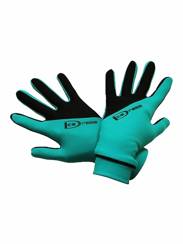 IceDress Black & Turquoise Two Color Thermal Figure Skating Sport Gloves