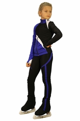 IceDress Figure Skating Cornflower Blye Thermal Split Outfit