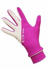 IceDress Fuchsia & White Two Color Thermal Figure Skating Sport Gloves