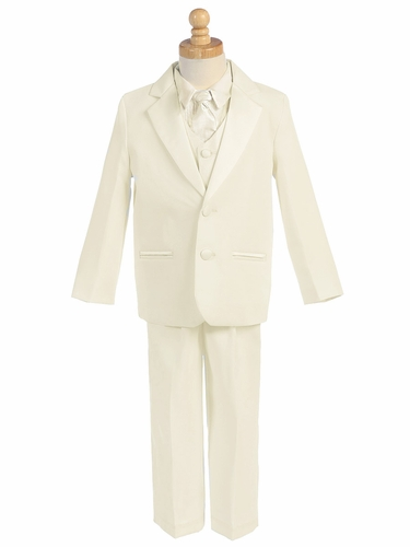 Ivory 5 Piece Two Button Tuxedo