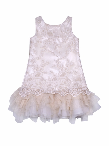 Biscotti Ivory Floral Lace Dress