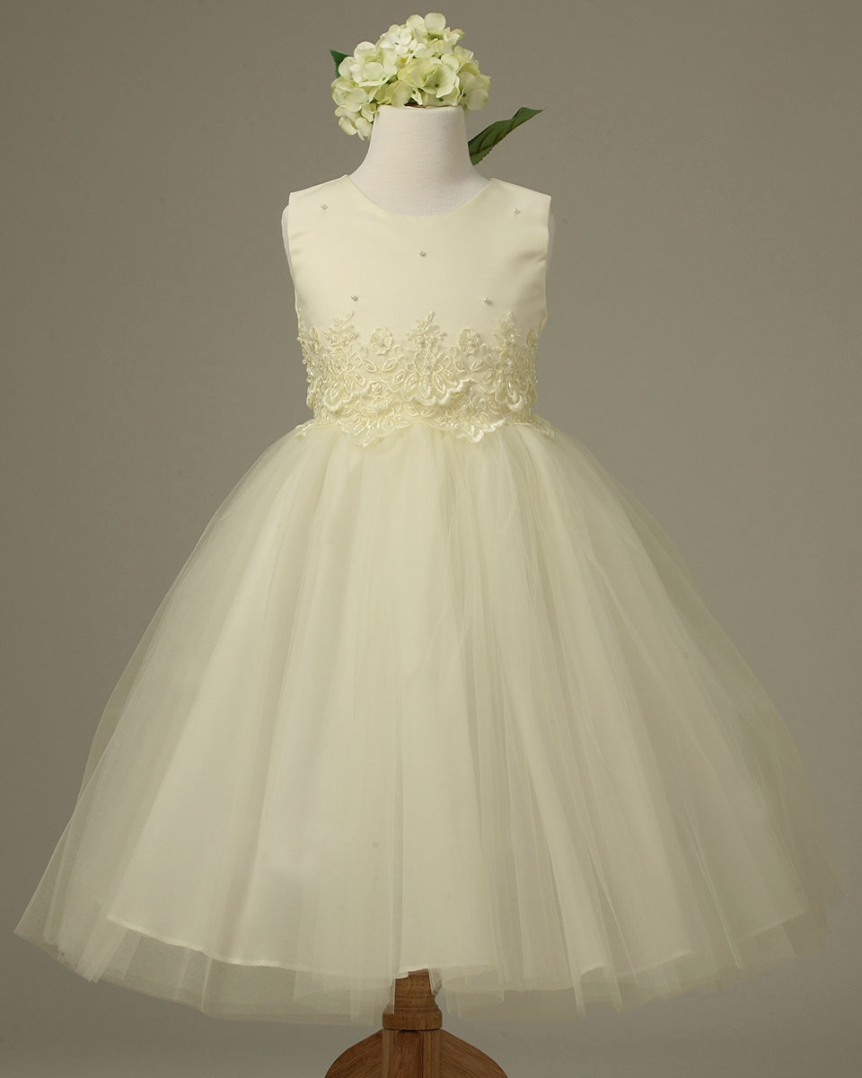 11f48df7e09 ... Ivory Cinderella Tulle Flower Girl Dress. Click to Enlarge