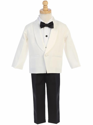 Ivory Dinner Jacket w/ Pants 4 PC Tuxedo