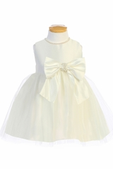 Ivory Sweet Kids SK781 Satin and Pearl w/ Tulle