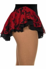 Jerry's 305 Red Double Georgette Butterfly Print Skirt