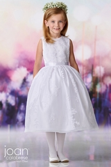 Joan Calabrese 119376 Petal First Communion Dress w/ Satin