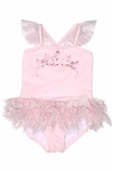 Kate Mack 516 Pink Princess Party Tank Tutu Tiara Swimsuit