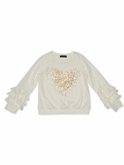 FLASH SALE: Kate Mack 526 Melting Heart Sweatshirt