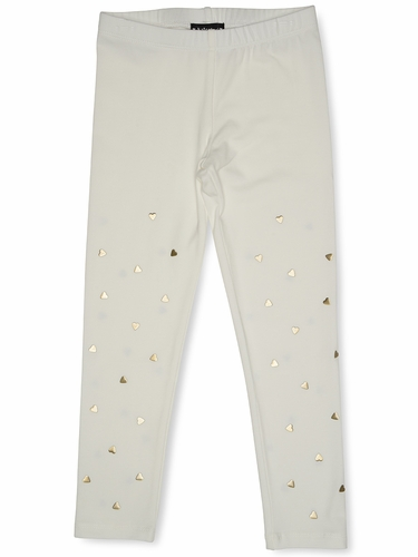 Kate Mack 528 Ivory Melting Heart Legging