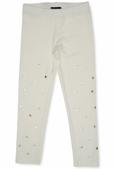 FLASH SALE: Kate Mack 528 Ivory Melting Heart Legging