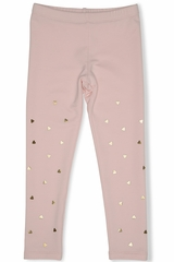 Kate Mack 528 Pink Melting Heart Legging