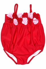 c9ce0a342a2c3 Kate Mack 540 Red Heart s Desire Bubble Swimsuit w  3D Rosettes