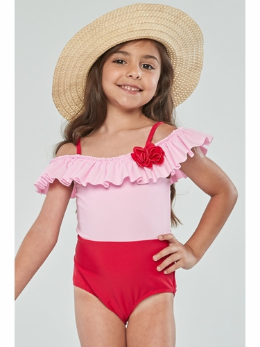 Kate Mack Girls Be Mine Rose Baby One Piece Swimsuit