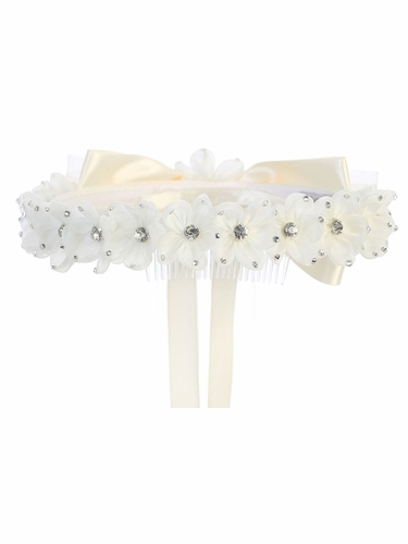 Kids Dream Girls' Gem Ivory Flower Crown